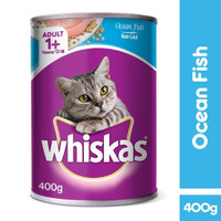 Makanan Kucing Basah Whiskas Adult 1+ Ocean Fish Kaleng 400g