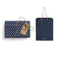 Paket Kertas Kado & Paper Bag Harvest Gift Set - Love Navy