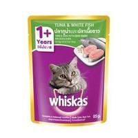 Makanan Kucing Basah Whiskas Pouch Adult 1+ Tuna And White Fish 85gr