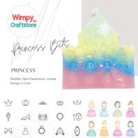 Cetakan Silicone Mold Princess Cetakan Resin Clay Kue Nail Art Wimpy