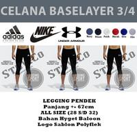Celana legging 7/8 Training Futsal Gym Fitnes Adidas Kiper Training - Merah, LEGING3/4 ADS
