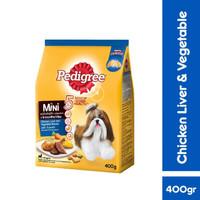 Makanan Anjing Mini Pedigree Adult Chicken Liver & Vegetable 400g