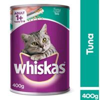 Makanan Kucing Basah Whiskas Adult 1+ Tuna Kaleng 400g