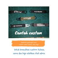 Snaphook Gantungan kunci motor mobil rumah Custom tulisan/logo - Hitam, polos