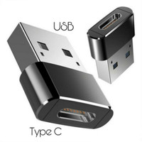 USB Type C Female to USB A Male Adapter Converter Connector OTG Mini