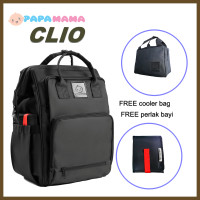 PAPAMAMA 1007 CLIO diaper bag tas bayi - Hitam