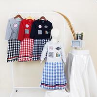 BAJU FASHION DRESS TUNIK ANAK PEREMPUAN 3-9 Th - E - Merah, 4