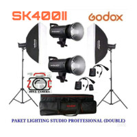 Paket Godox SK400II Full Set Lighting Studio SK400 II Lampu Flash Ligh
