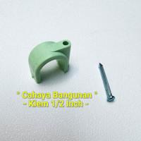 "Klem Pipa Air Pvc Peralon Pralon Rucika Arrow 1/2""Inch Inc Tembok Kayu"