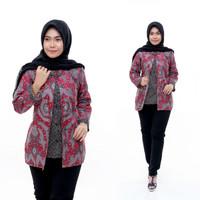 blus batik bolero terbaru atasan cewek DP1