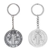 Gantungan Kunci Benediktus Aksesoris Tas Hadiah Souvenir Rohani Murah