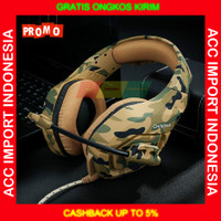 Headset Gaming Onikuma Headphone Gaming Army Microphone Single Jack