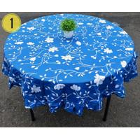 Taplak Meja Makan Bulat 4 (Empat) kursi Rempel / Rumbai