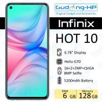 Infinix Hot 10 6/128 GB Garansi Resmi - Hitam
