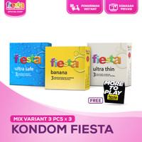 Kondom Fiesta Mix Variant - 3 Pcs x 3 (Free Sticker)