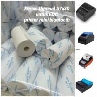 Kertas Struk Kasir Paper Roll EDC Thermal Printer Bluetooth 58x30 - Biru