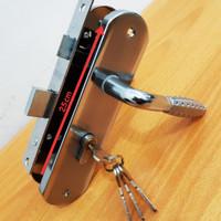 Kunci Pintu Set Besar 25cm / Gagang Pintu Rumah - Silver