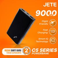 Powerbank JETE C5 5000 mAh Garansi Resmi 1 Tahun - Putih