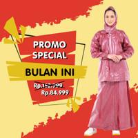 Jas Hujan Rok Polkadot Plevia ROK POP 870 Muslimah Perempuan Mantel - Hitam