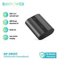 RAVPower RP-PB197 10000mAh PD+QC 2-Port 18W Powerbank Metallic Dark Gr