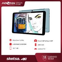 "Advan Tab Sketsa 10"" 4GB 32GB Octacore Android9 Garansi Resmi"