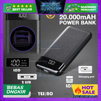 Power Bank TURBO Charge 2 Port 20000mAh with LED Flash - 20W