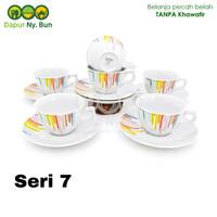 6 Pasang Cangkir Set / Cangkir + Saucer Kopin Royal Heritage RAINBOW - Seri tujuh