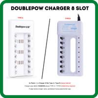 Paket Baterai Cas 1 Charger + 8 Baterai AA / AAA Doublepow - Charger Saja