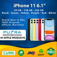 (IBOX) iPhone 11 64GB 128GB 256GB Garansi Resmi TAM 1 Tahun 64 128 256 - 64GB, White