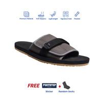 Sendal Pria Rumah Slip On Footstep Footwear - Flexy Grey - 39