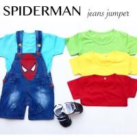 Spiderman Jeans Jumper / Overall Bayi / Overall Anak / Baju Bayi Lucu