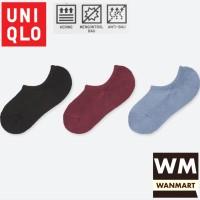 UNIQLO Women Socks Ankle Kaos Kaki Tumit Wanita Low Cut 3 Pasang
