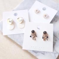 Hangtag Label display anting earrings 5x5cm