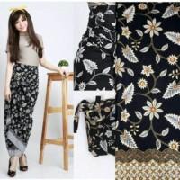 Rok Lilit Serut Batik R049 Bunga Jasmine / Wrap Skirt Rok Maxi Muslim