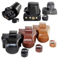 Leather Case Canon EOS M5 M50 EOSM5 EM50 15-45mm