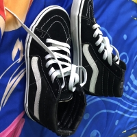 FOR SALE VANS SK8 HI BLACK WHITE 5.5