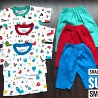 PROMO Setelan kaos baju anak Baby Full COLOR fashion umur 1-5 tahun
