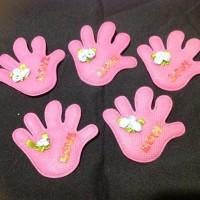 Aplikasi model jari (pink)