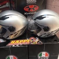 Helm Halfface AGV Blade silver original Italy size M dan L