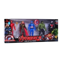 Mainan action figure avengers 2 set 5pc cake topper hulk antman thor