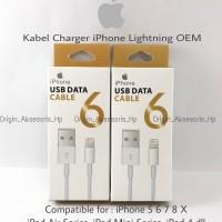 Kabel Data Charger Lightning Apple iPhone 5 6 7 8 X iPad OEM