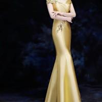 Sabrina flower long dress