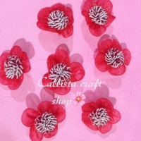 Bunga sakura organdi (5 pcs)