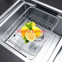 Rak kitchen sink Stainless Model Tarik /Tirisan Piring Sayur Fleksibel