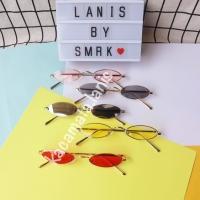 2018 kacamata oval mini vintage / sunglasses cat eye colorful monochro