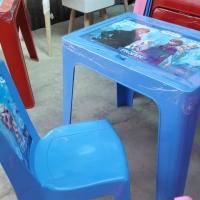 Meja Belajar anak / meja laptop anak Frozen Napolly 1set kursi