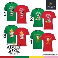 Kaos natal 2018 / kaos merry christmas / merry christmas color adult
