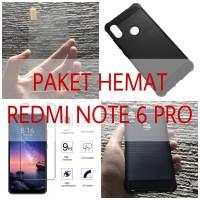 [PAKET] Xiaomi Redmi Note 6 Pro Premium Tempered Glass + Armor Case