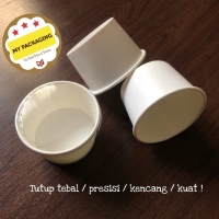 Paper Cup Ice Cream 4 oz + tutup @50pcs / Gelas Kertas Es Krim 4 oz