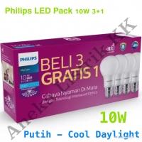 Paket Lampu LED BULB PHILIPS 10w Paket 3 free 1 Paket 3+1 TERMURAH